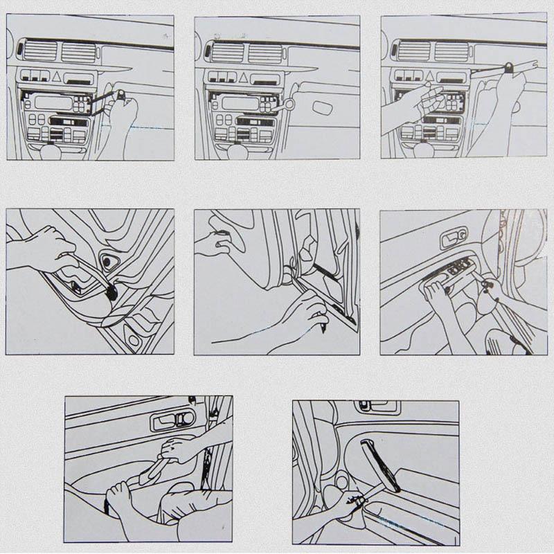 4Pcs Portable Auto Car Radio Panel Door Clip Panel Trim Dash Audio Removal Installer Pry Kit Repair Tool Pry Tool Hand Tools