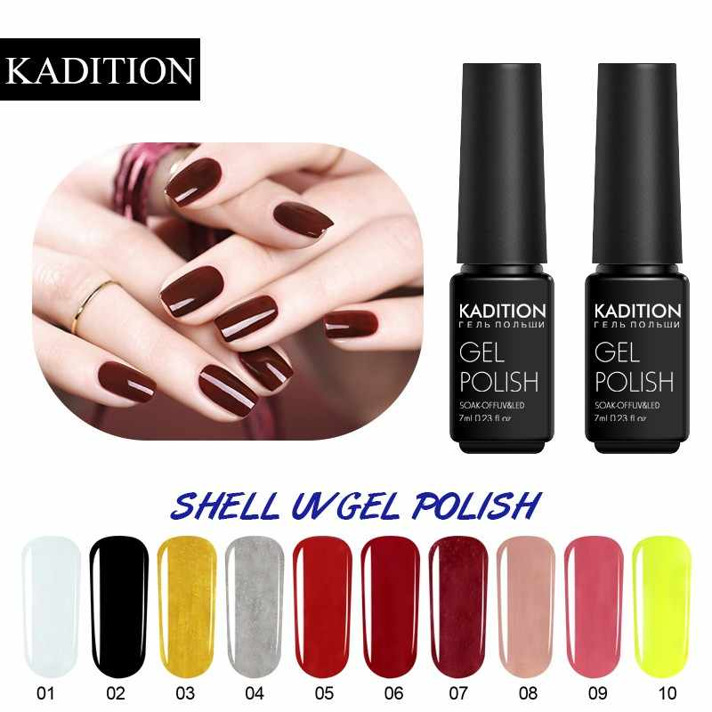 Kadition Warna Gel Nail Polish Lacquer Warna-warni Hybrid Gel Varnish Gel Primer Rendam Off UV LED Gel Lacquer Kuku bahasa Polandia Nail Art