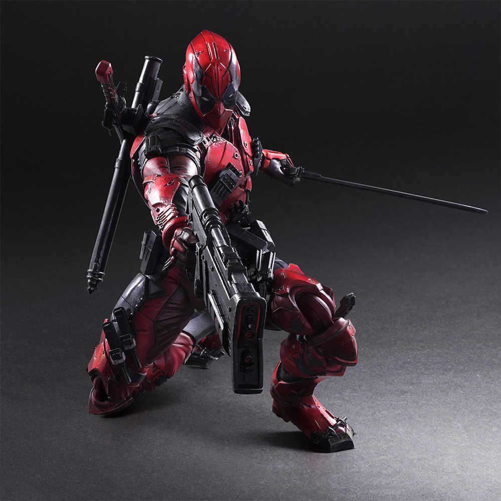 Play Arts Kai Deadpool Hình Wolverine X Người Đàn Ông Deadpool Wade Winston Wilson Chơi Nghệ Thuật KAI PVC Hành Động Hình 26 cm búp bê Đồ Chơi
