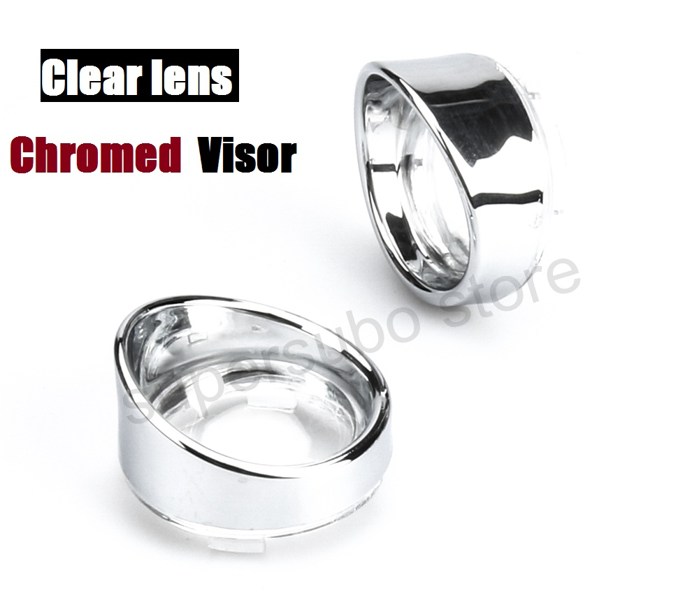 Turn Signal Lens clear With Visor Ring For Harley Dyna Softail Sportsters touring street glide