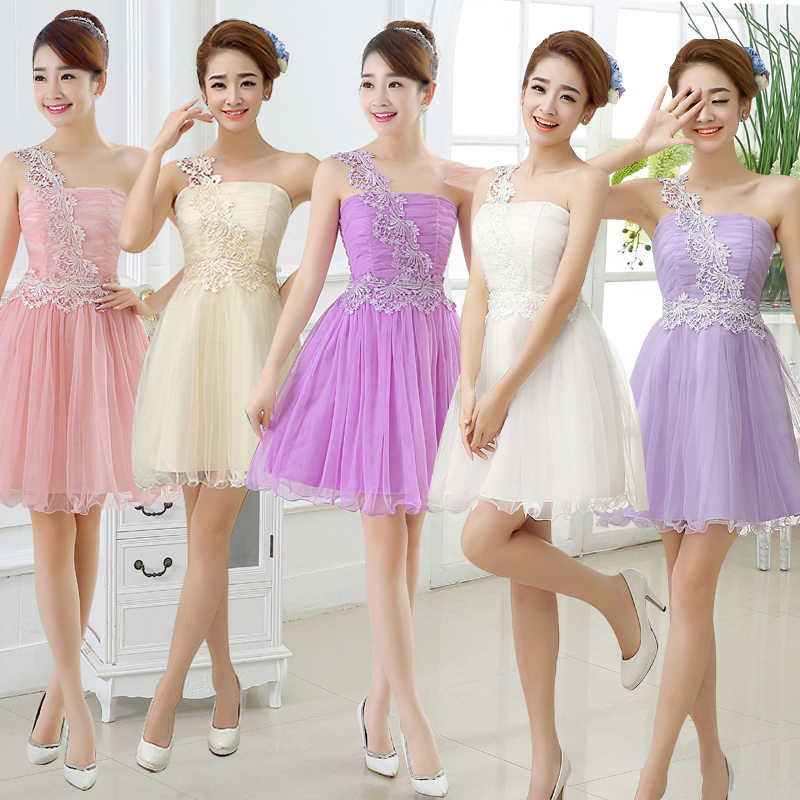 Sweet Memory short bridesmaid dress green white pink dress for wedding  party cheap clean stock d78704aad104
