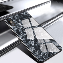Luxury Tempered Glass Cover for iPhone X Xs Max Case Plating Soft TPU Frame 7 8 plus 6 6s