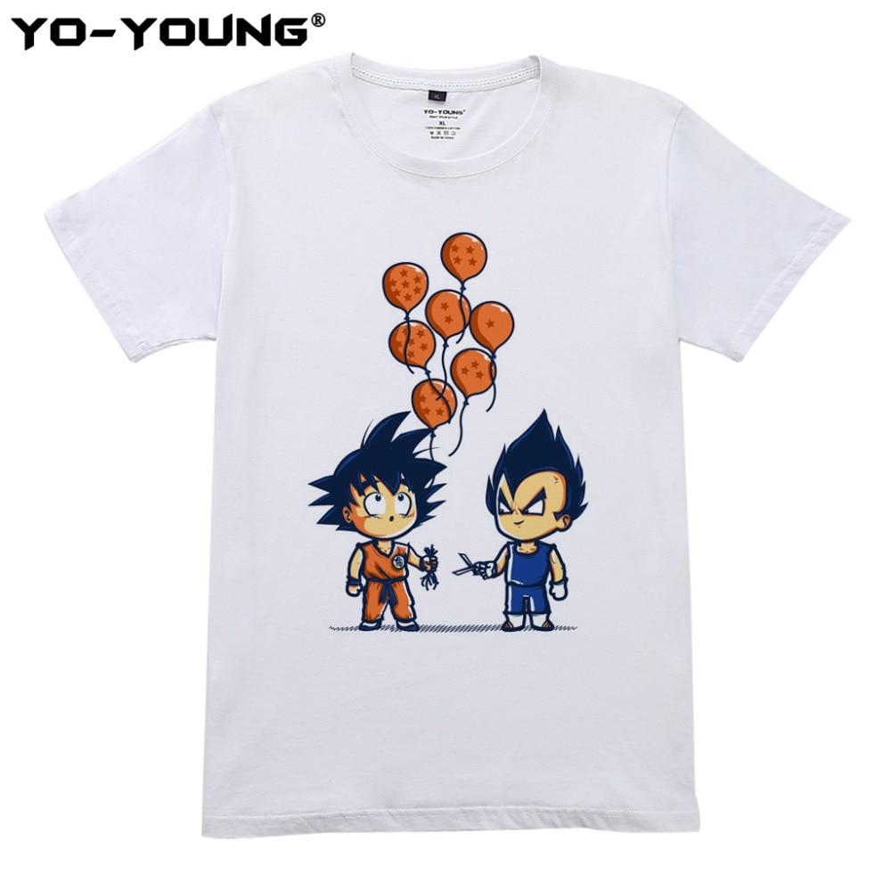 Nyaste Anime Dragon Ball Printing Men T-shirts Goku Vegeta Funny - Herrkläder - Foto 1