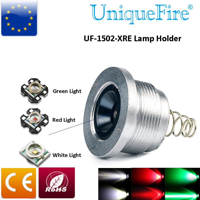UniqueFire UF-1406 Flashlight Bulb CREE XRE(G/R/W) Light LED Drop In Pill Module 3mode Driver Lamp Holder