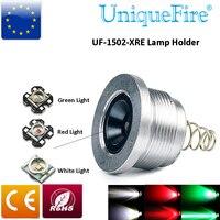 Uniquefire UF-1406 lanterna lâmpada CREE XRE ( G / R / W ) módulo de luz LED Drop In Pill 3 modo motorista suporte da lâmpada
