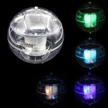 SANHOOII Transparent LED Swimming pool Floating Lamp Color Changing Solar Power Light for Garden Outdoor Holiday Decoration