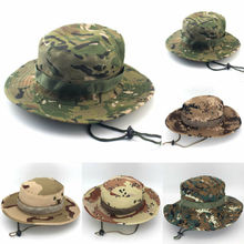 New Bucket Hat Cap Military Outdoor Unisex Fishing Hunting Wide Brim Camo