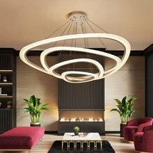 מודרני led תליון אורות אקריליק מקורה תאורת led סלון אוכל חדר luminaire suspendu אור גופי