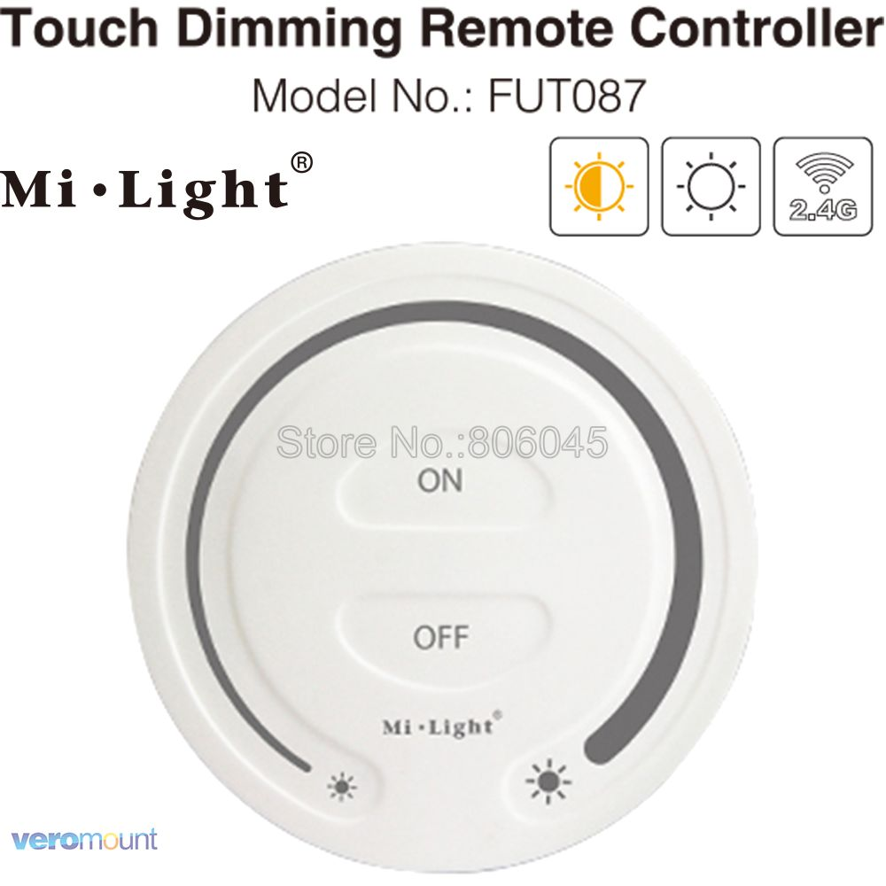 Milight FUT087 2.4G Wireless Touch Dimming Remote Dimmer Brightness Adjust LED Controller For Mi.light Dimming Bulbs Controller