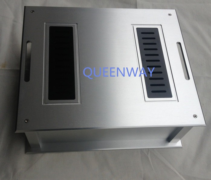 D-009 CNC All Aluminum Chassis Case Box Cabinet for DIY Audio Power Amplifier   300mm*92mm*260mm 300*92*260mm D-009 CNC All Aluminum Chassis Case Box Cabinet for DIY Audio Power Amplifier   300mm*92mm*260mm 300*92*260mm