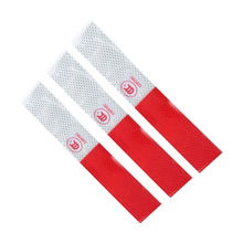 Useful 5Pcs New DIY Red-White Truck Safety Warning Night Reflective Strip Tape Stickers
