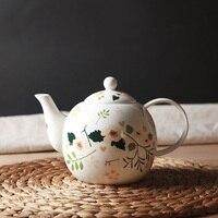 בסדר עצם סין תה סיר קרמיקה פורצלן פרחוני חמוד פרח קטן סירי קפה בסגנון יפני קערת בקבוק מים קומקומים