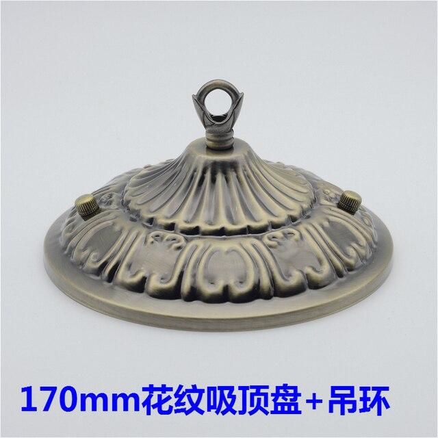 170mm Geprägte Decke Rose Mit Haken Ring Für Kronleuchter