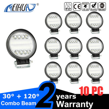 DC 9 - 30V 72W 4 inch LED Working Lamp 7200lm IP68 Waterproof for Off-road Car Tractor Vehicle SUV ATV Front Headlight