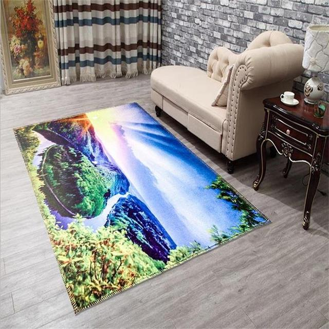 Modern Printing Scenic Carpets For Living Room Home Bedroom Rugs And Coffee Table Area