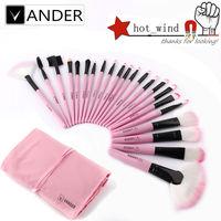 Professional 5 6 10 22 24 32Pcs Cosmetic Eyeliner Lip Powder Foundation Makeup Brush Brushes Set