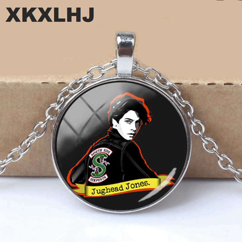 2018 New Jughead Necklace Pendants Mysteries Of Riverdale Pendant Glass Dome Photo Necklaces Silver Hand Carft Jewelry