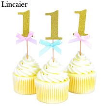 10 Pieces First Birthday Cupcake Topper