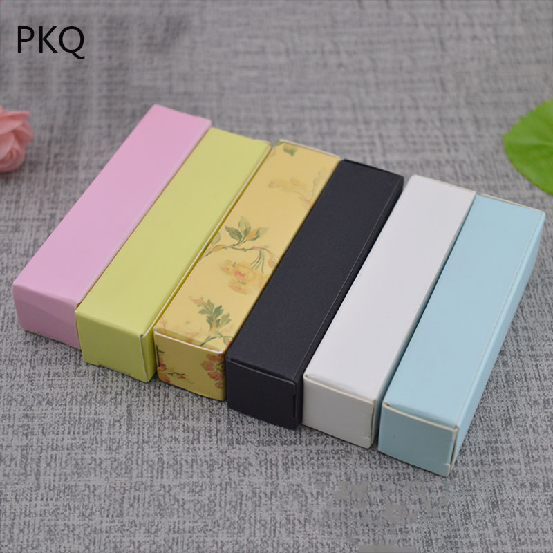 Us 9 32 10 Off 50pcs 2 2 8 5cm Blank Kraft Paper Box Diy Lipstick Gift Packaging Boxes Small Eyeliner Pen Cosmetic Packing Box In Gift Bags