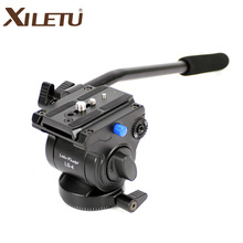 XILETU LS-Four Handgrip Video Pictures Fluid Drag Hydraulic Tripod Head and Fast Launch Plate For ARCA-SWISS Manfrotto
