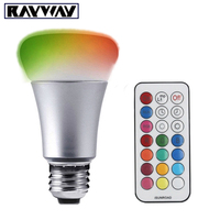 RAYWAY 21KEYS IR Remote Control Dimmable 10W LED Bulb Light RGB White Warm White E27 Stage