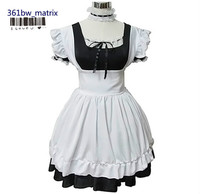 Wholesale Sexy Girls Lolita Maid Dress Costume Classic Halloween Christmas Cosplay Costume Outfit New Free Shipping