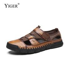 YIGER New men sandals man Mesh shoes big size casual beach summer male Soft bottom non-slip  292