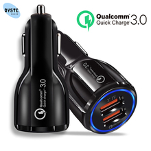 Quick Charge 3.0 Car Charger For Mobile Phone Dual USB Car Charger Qualcomm QC 3.0 Fast Car Charging Adapter Mini USB Autolader quick charge 3 0 car charger for mobile phone dual usb car charger qc 3 0 fast charging adapter mini usb car charger