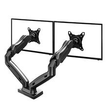 "NB F160 Gas Spring 360 Degree Desktop 17""-27"" Dual Monitor Holder Arm Full Motion TV Mount(China (Mainland))"