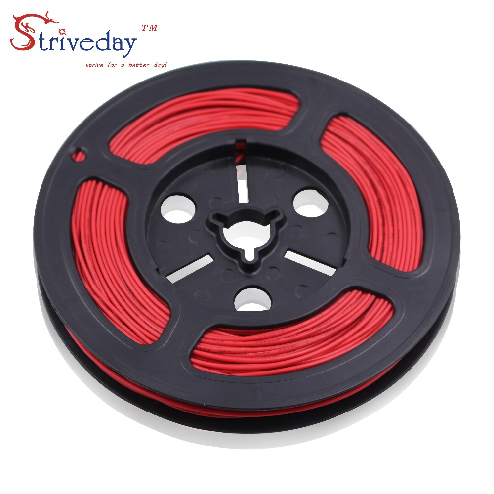 50 meters/roll 164ft UL 1007 26awg Stranded Wire Electrical Cable Line Airline Copper PCB DIY 10 colors selection