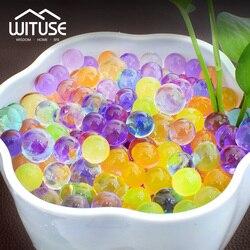 New Crystal Soil Water Beads Hydrogel Gel Polymer Seeds Flow Mud Grow Ball Beads Growing Bulbs Children Toy Balls 6000 pcs