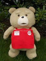 New Ted movie teddy plush 45cm, Red Apron ted plush bear, teddy bear giant teddy bear plush Toy Gift