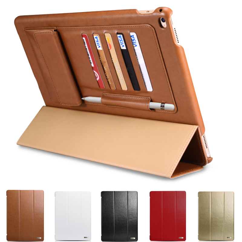 For Apple iPad Pro 12.9 Cover Case Luxury Business Multi-credit Cards Tablet PU Leather Smart Case for iPad Pro Protect Fundas for apple ipad pro 12 9 2017 case fashion retro pu leather cases for ipad pro new 12 9 2017 tablet smart cover case pen