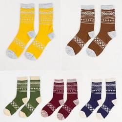 Осень-зима Для мужчин хлопковые носки хорошее качество Уютный Повседневное ретро толстые дышащие мужские носки