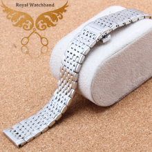 Free shipping 13mm 18mm Watch Strap Bracelet Silver Stainless Steel Deployment Clasp Bracelets