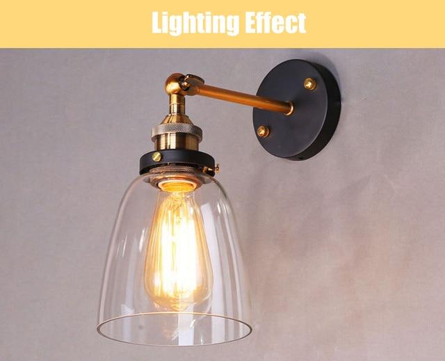 Lampada Vintage Da Parete : Loft vintage lampada da parete industriale edison lampade da parete