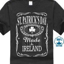 2017 neue St.Patricks Tag 'Hergestellt In Irland T Hemd Whisky Stil Verschiedene Design männer Hohe Qualität T Tops