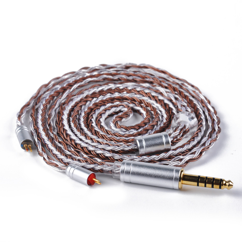 Portable Audio & Video Hearty Ak Newest Yinyoo 16 Core Copper Brown Silver Plated Cable 2.5/3.5/4.4mm Balanced Cable With Mmcx/2pin Connector For Hq8/hq12