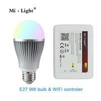 Milight 2 4G E27 Wifi Bulb 9W RGBW RGB White Warm White Led Bulbs Light 1x