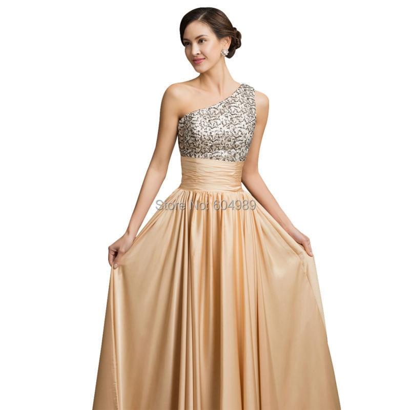 Aliexpress.com : Buy One Shoulder Evening Dress Grace Karin Sequin ...
