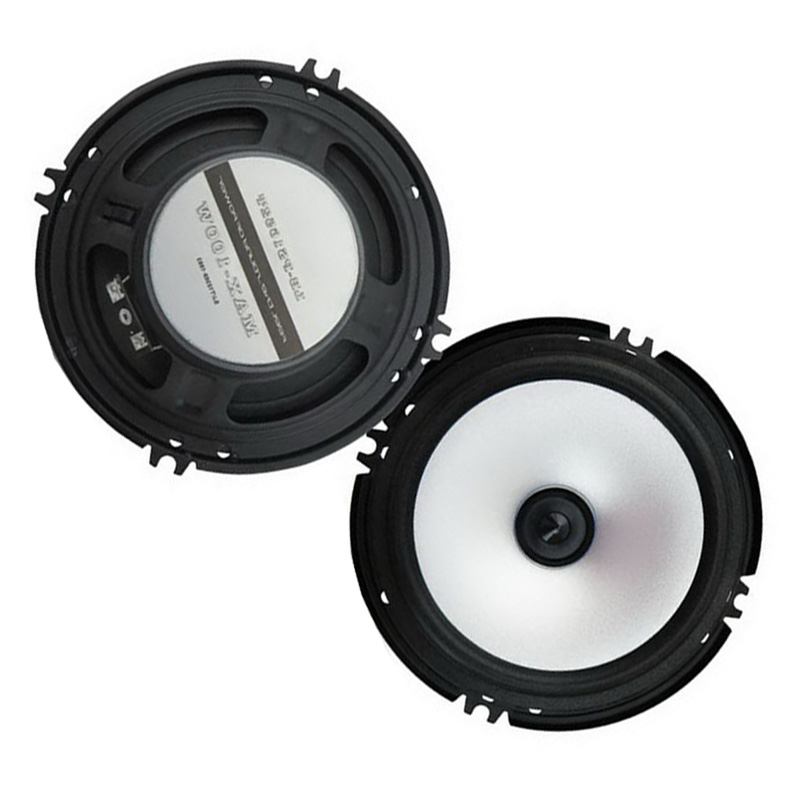 1 Pair 6.5 Car Stereo Speakers Full Range Audio 2x80w Subwoofer Hot