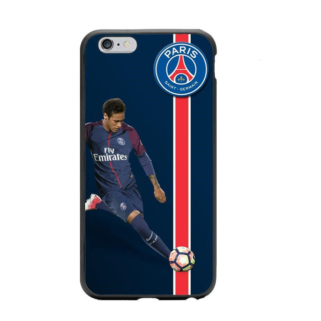 17d169649540c US $1.21 39% OFF|French Paris Saint Germain PSG Cover for iPhone 5 5S SE 6  6S Plus 7 7Plus 8 8 Plus Neymar jr Hard Phone Cases For iPhone X 5.8-in ...
