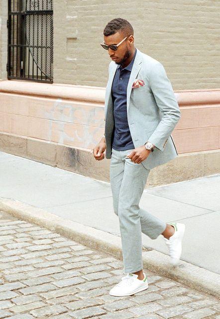 a0356d0aac 2018 Latest Coat Pant Designs Light Grey Casual Men Suits Summer Custom  Slim Fit Street Style 2 Pieces Ternos Jacket+Pants 168