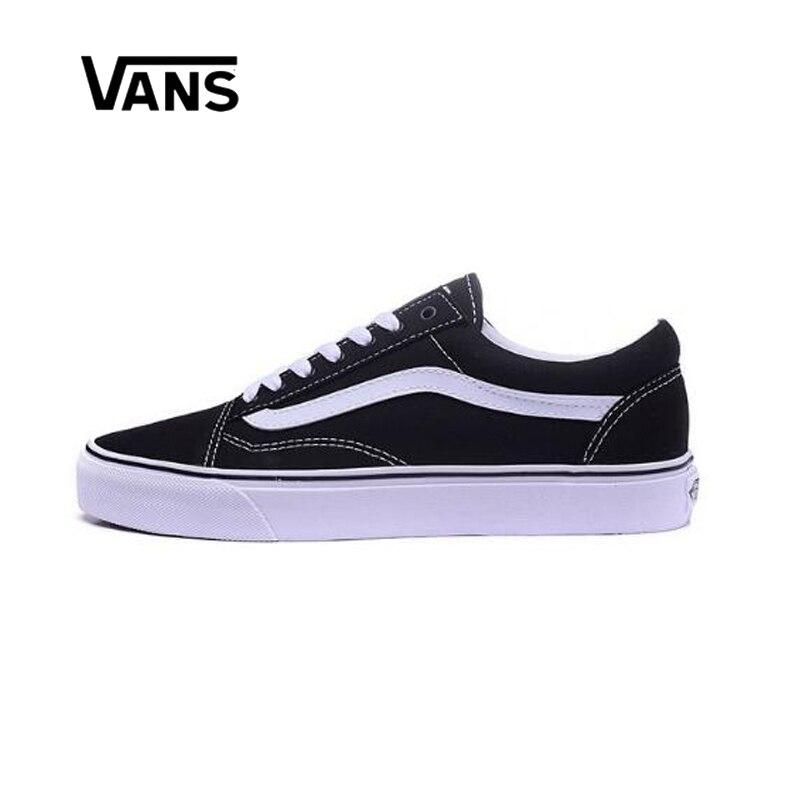 Original Vans hombres y mujeres clásico viejo Skool zapatillas de lona  Skateboarding zapatos Skateboard cuero costura 87f7aca4cf