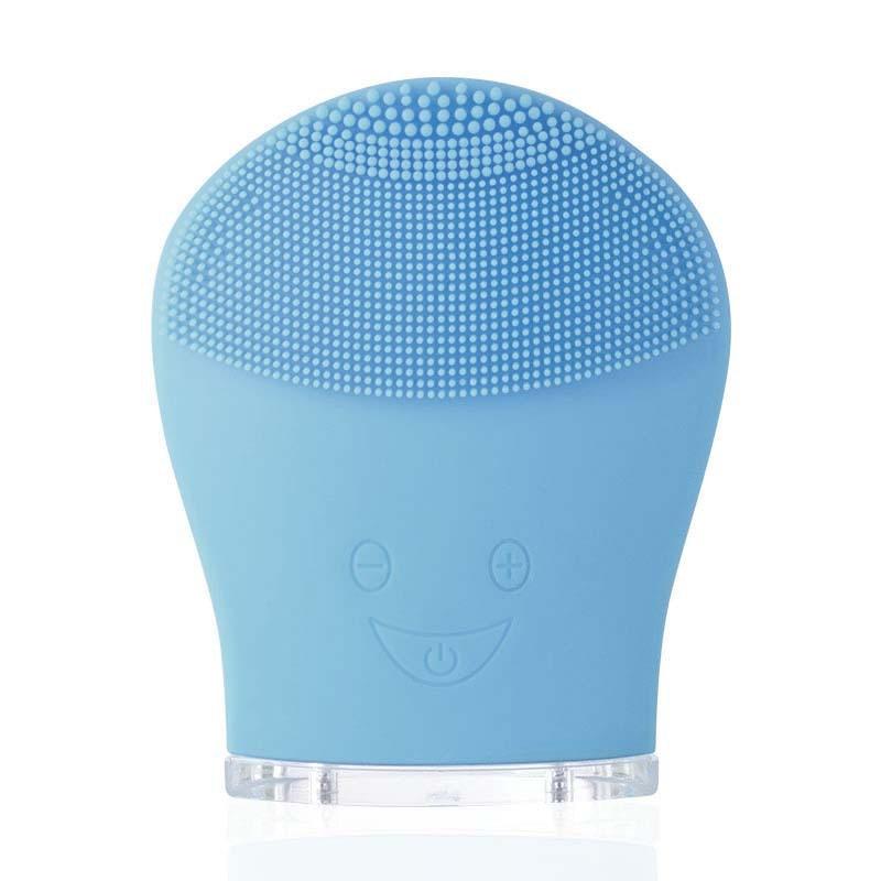 Ad ultrasuoni Del Silicone Pennello Pulizia Del Viso Ricaricabile Mini Massager di Vibrazione Viso Profonda Detergente Esfoliante Dispositivo Impermeabile