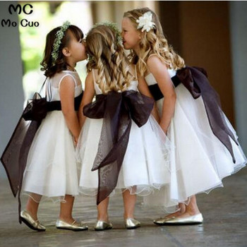 2019 first communion dresses for girl Pageant Dresses For Little Girls Bow Ribbon Flower Girl Dresses Mother Daughter Dresses