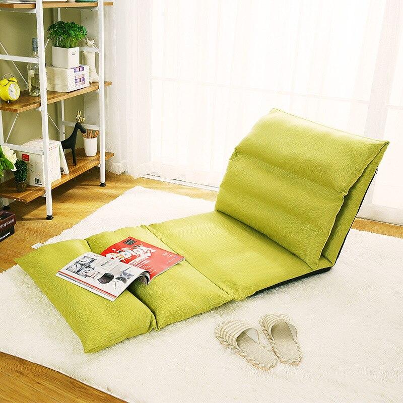 LK617 Étage Franchissables Monoplace Canapé Lit Creative Tatami Chanvre + Poupée Coton + Acier Canapé Lavable Salon Canapé Portable Chaise