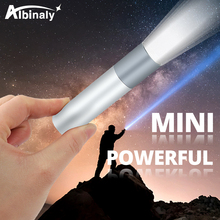 USB Rechargeable Simple creative LED Flashlight Aluminum alloy focus 3 lighting modes 200 meters illumination distance
