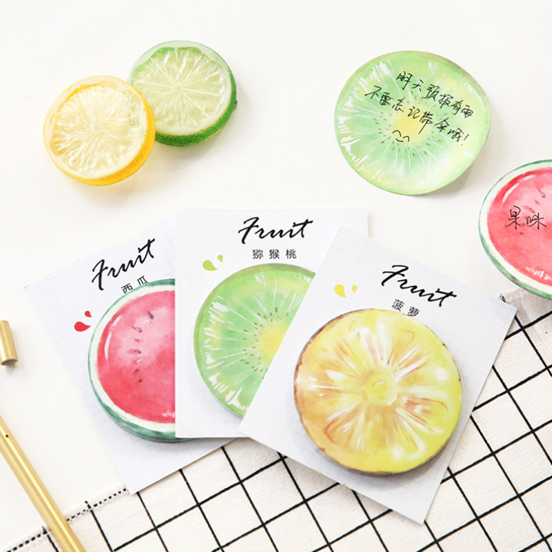 Colored Fruit Student Creative Paste Memo Pad Planner Sticky Note Paper Sticker Kawaii Stationery Pepalaria Office