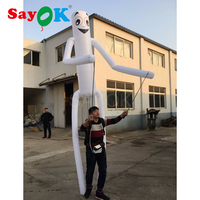 3.7m Tall Inflatable puppet with led lights Giant LED Sky Dancers for parade decoration